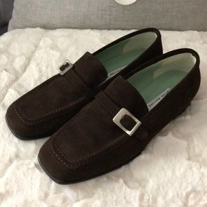 Sigerson Morrison suede loafers.